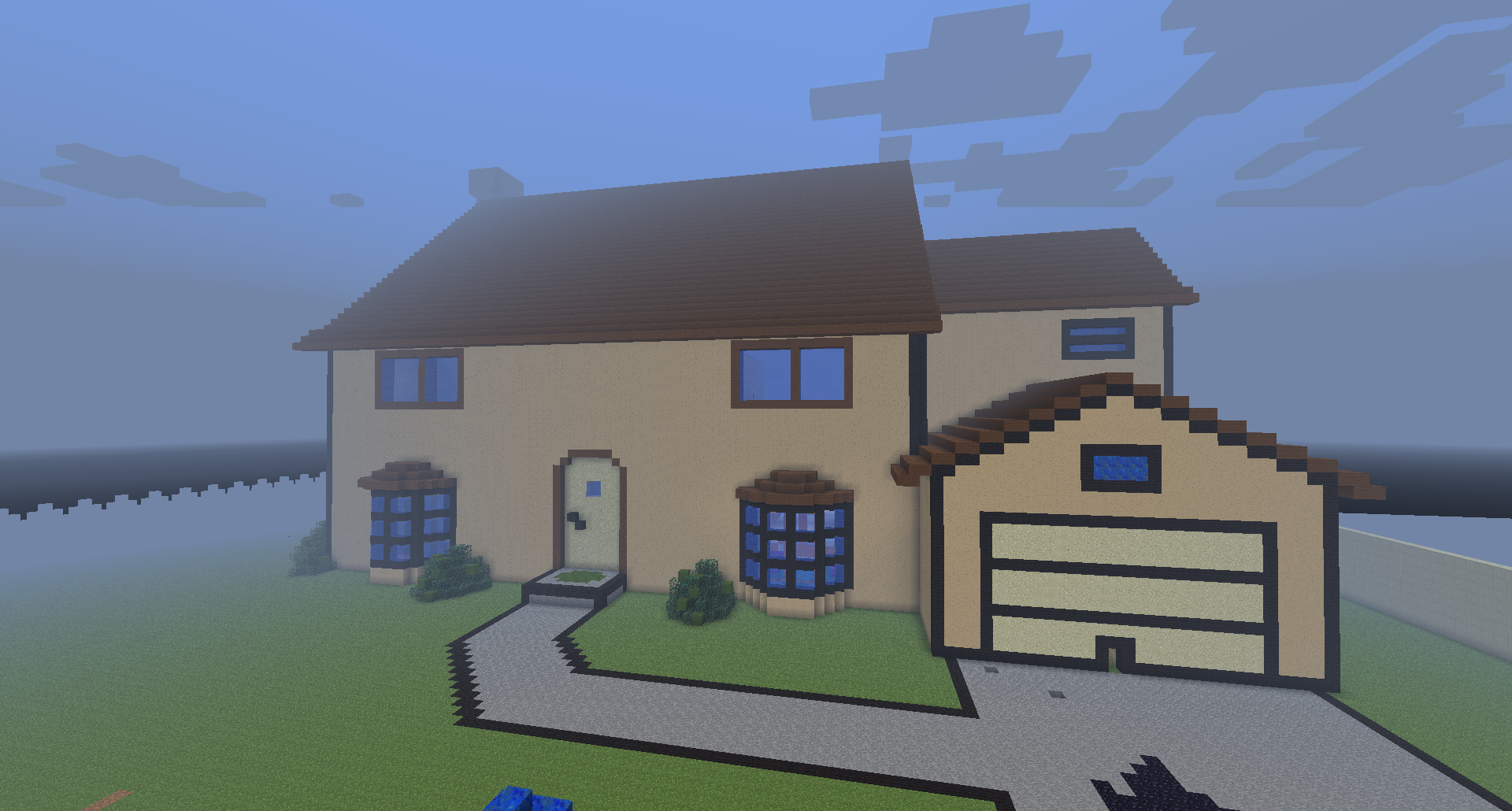 Maison sur minecraft ventana blog for Modele maison minecraft