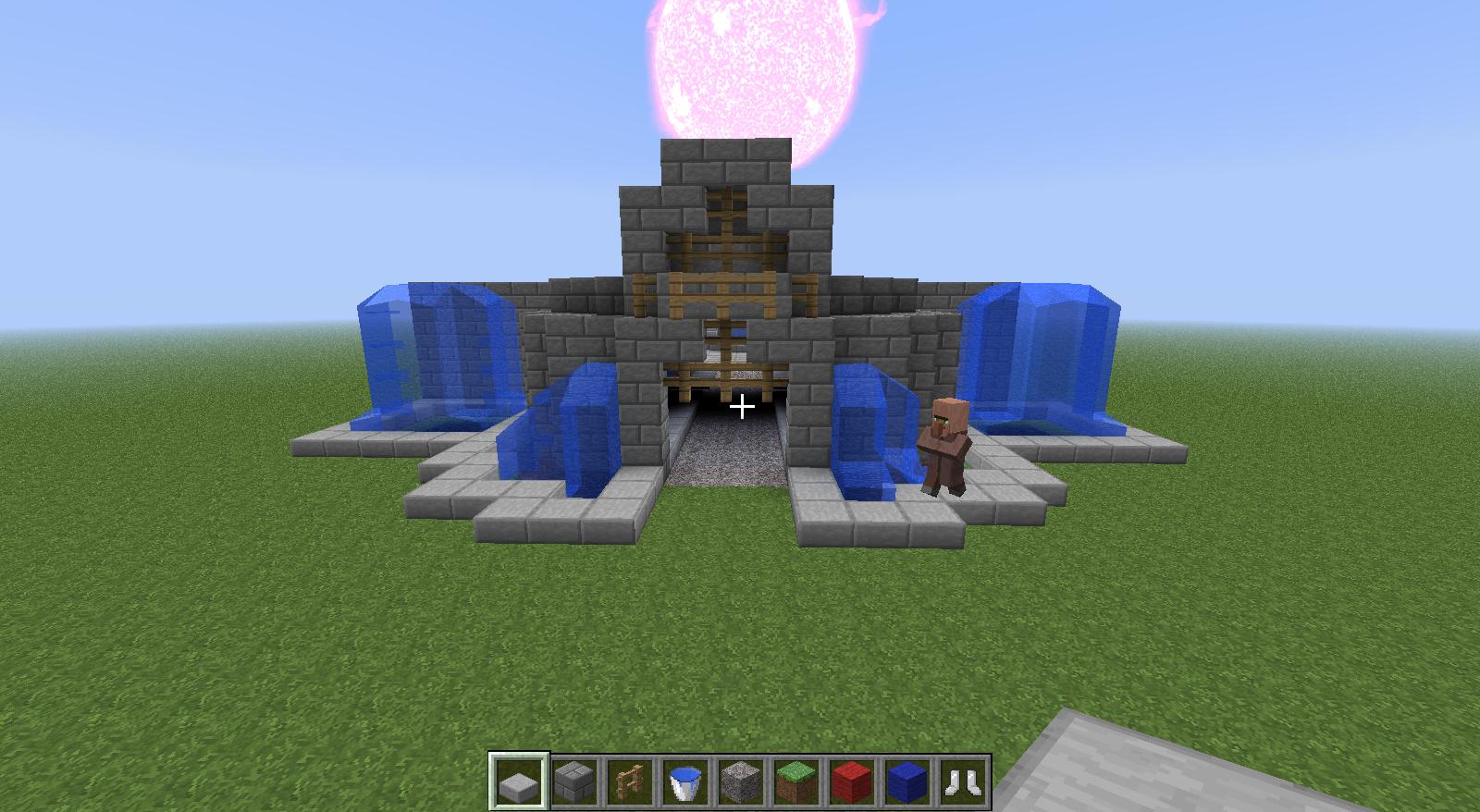 en cours construction d 39 un village m di vale minecraft. Black Bedroom Furniture Sets. Home Design Ideas