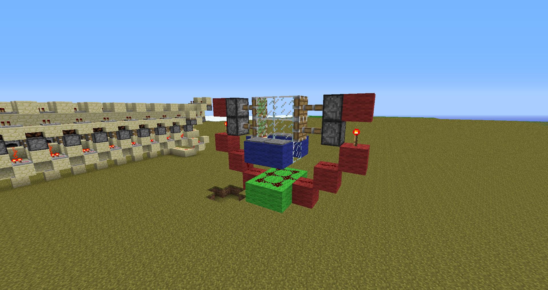 Tutorial porte automatique piston for Porte 3x3 minecraft