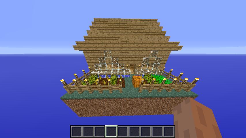 Map sky monde minecraft for Construire une maison craft the world