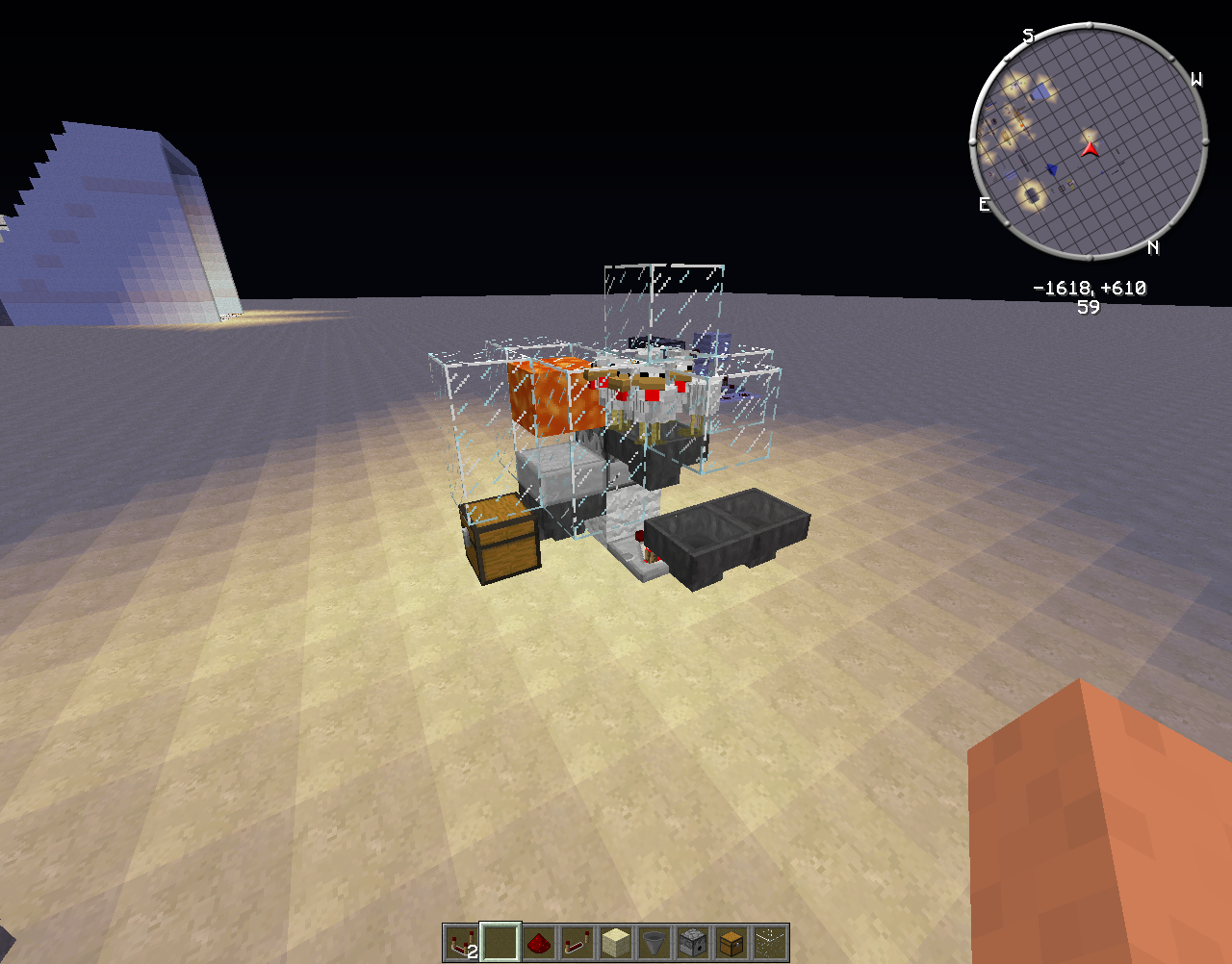 Tutorial machine poulet cuit ultime v2 minecraft - Poule minecraft ...