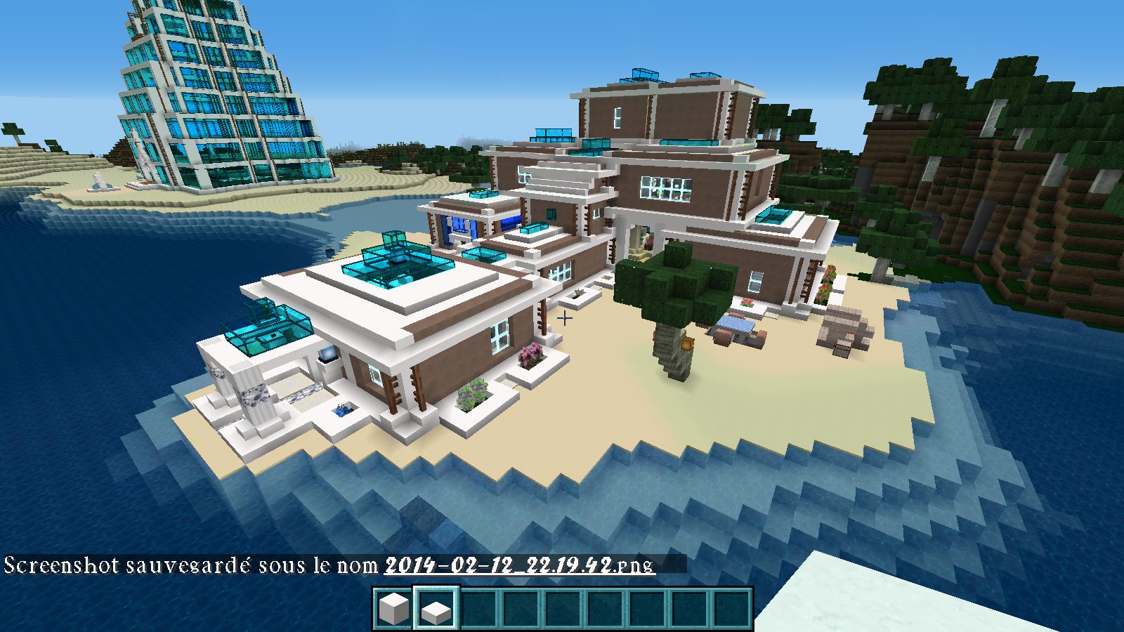 Construction moderne forum for Minecraft belle maison moderne