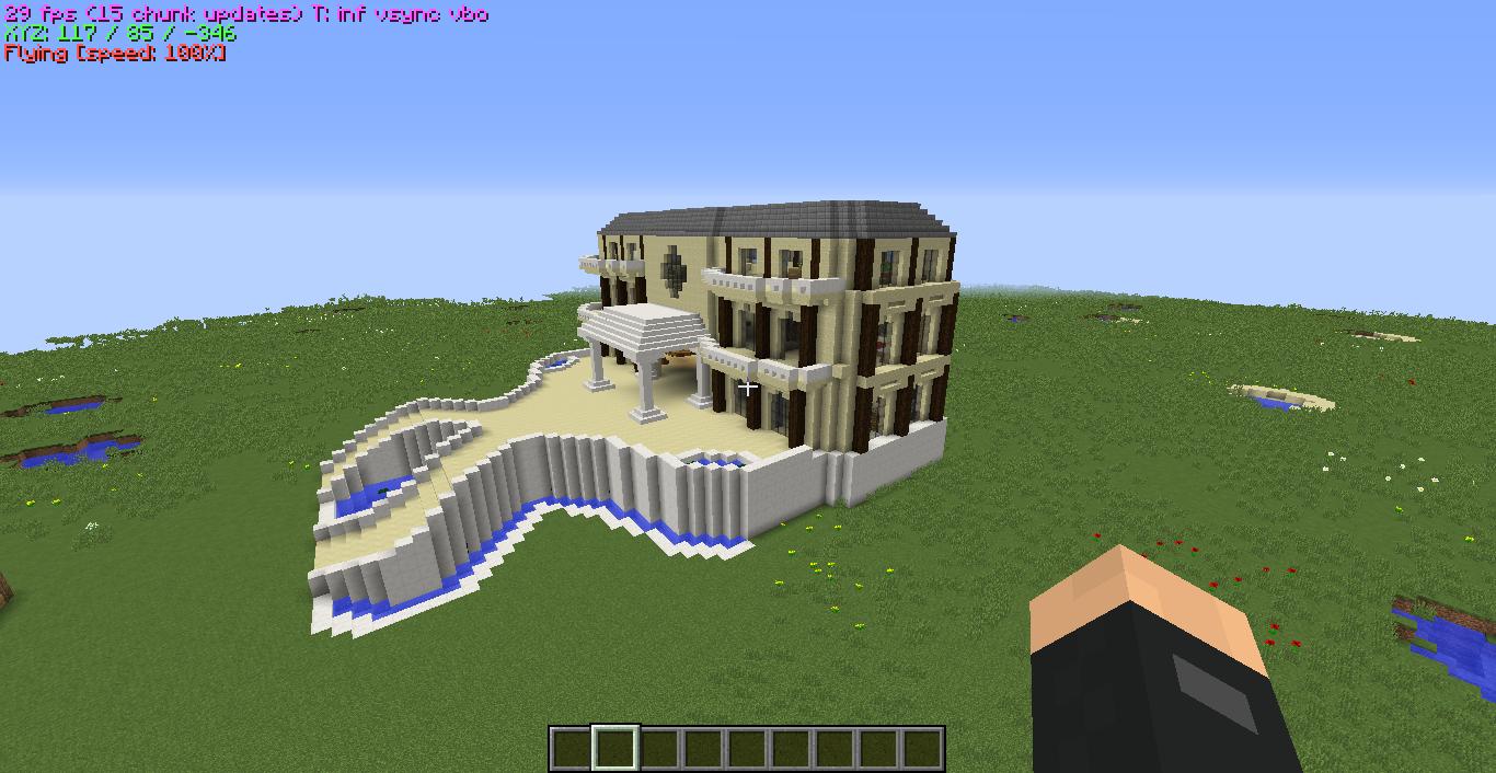 Plan De Villa Moderne Minecraft