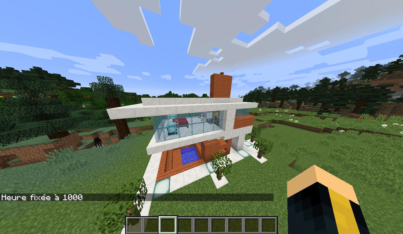 map une petite maison moderne tr s petite minecraft. Black Bedroom Furniture Sets. Home Design Ideas