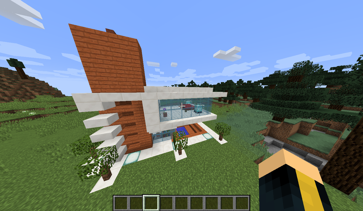 Maison moderne minecraft for Minecraft construction maison moderne