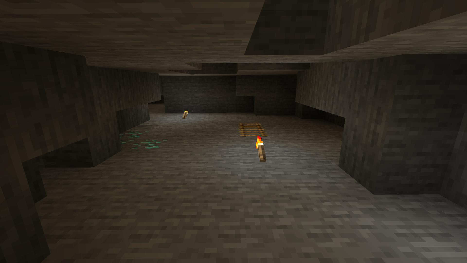 L'un des passages les plus durs, le parcours de saut purement vertical dans une grotte.