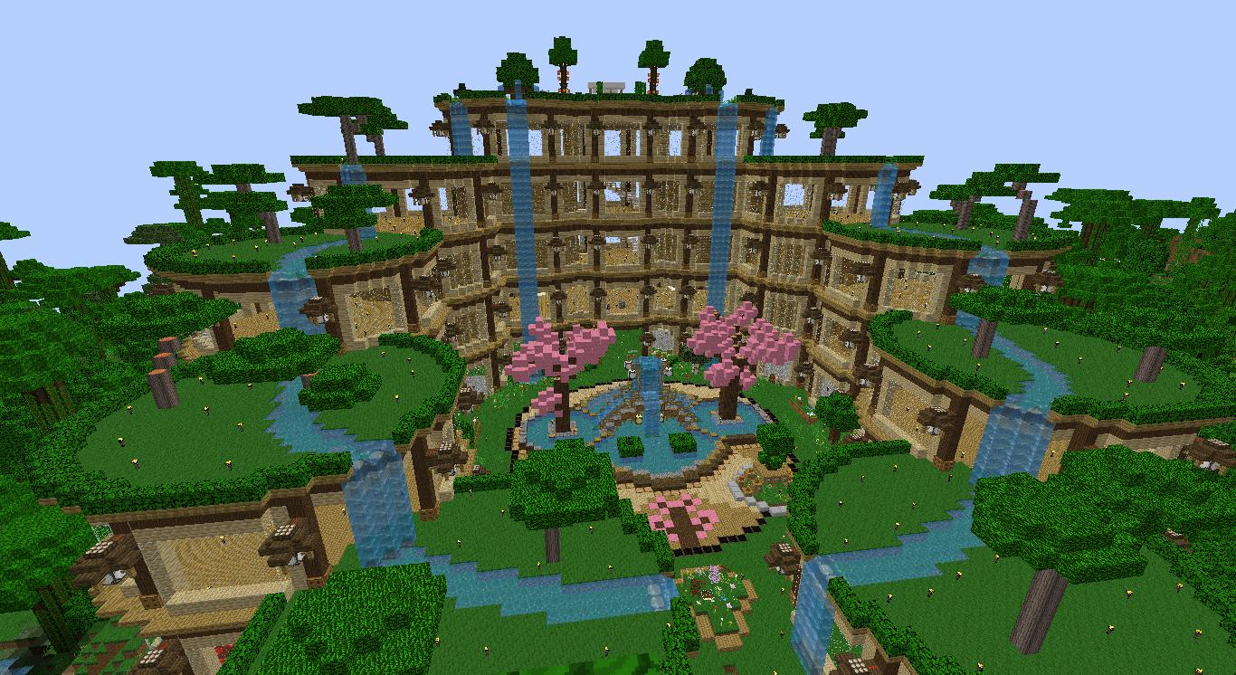jardin minecraft Jardin A La Francaise Minecraft