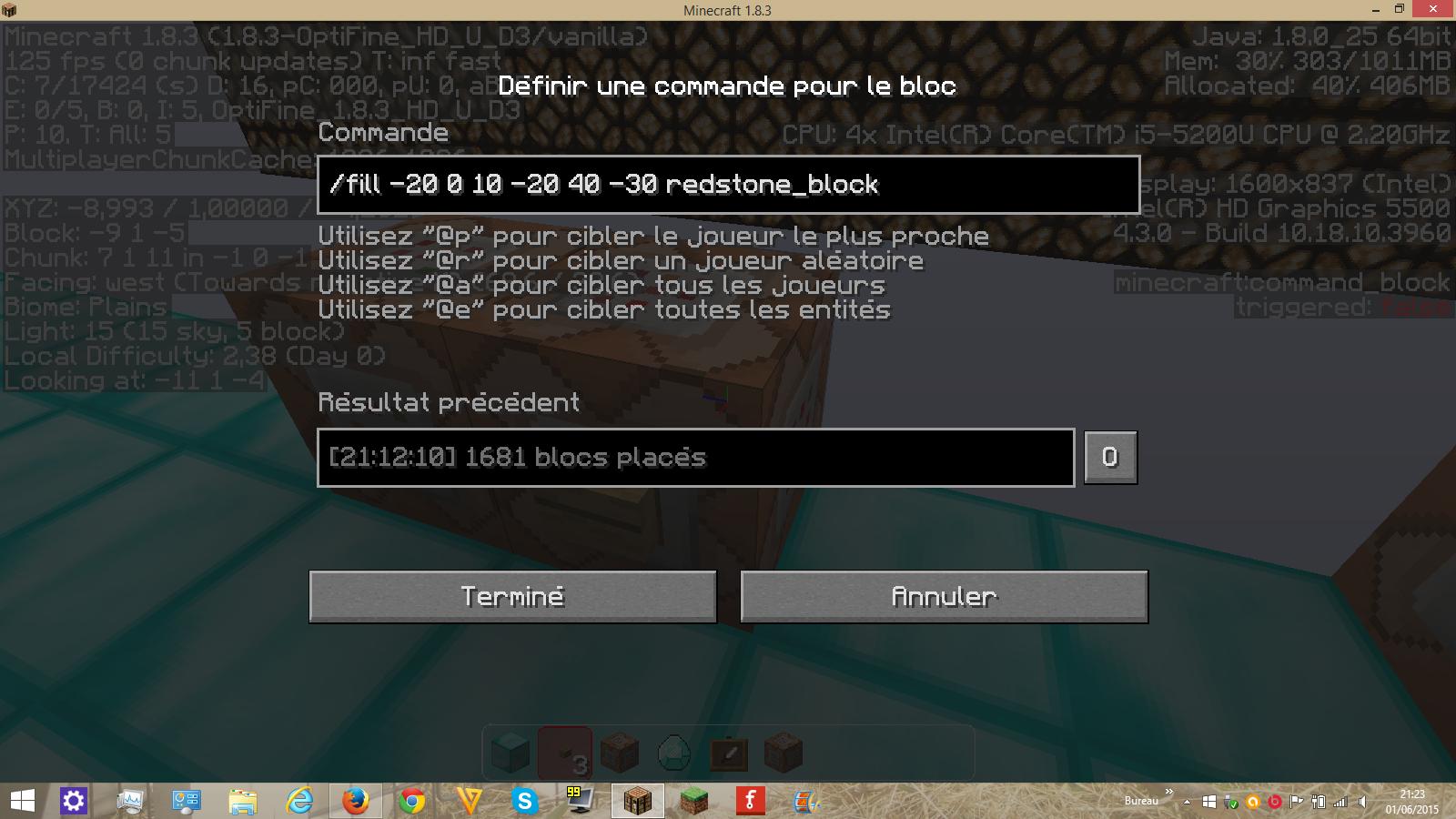 Plusieurs /setblock pour un seul command block | Minecraft fr - Forum