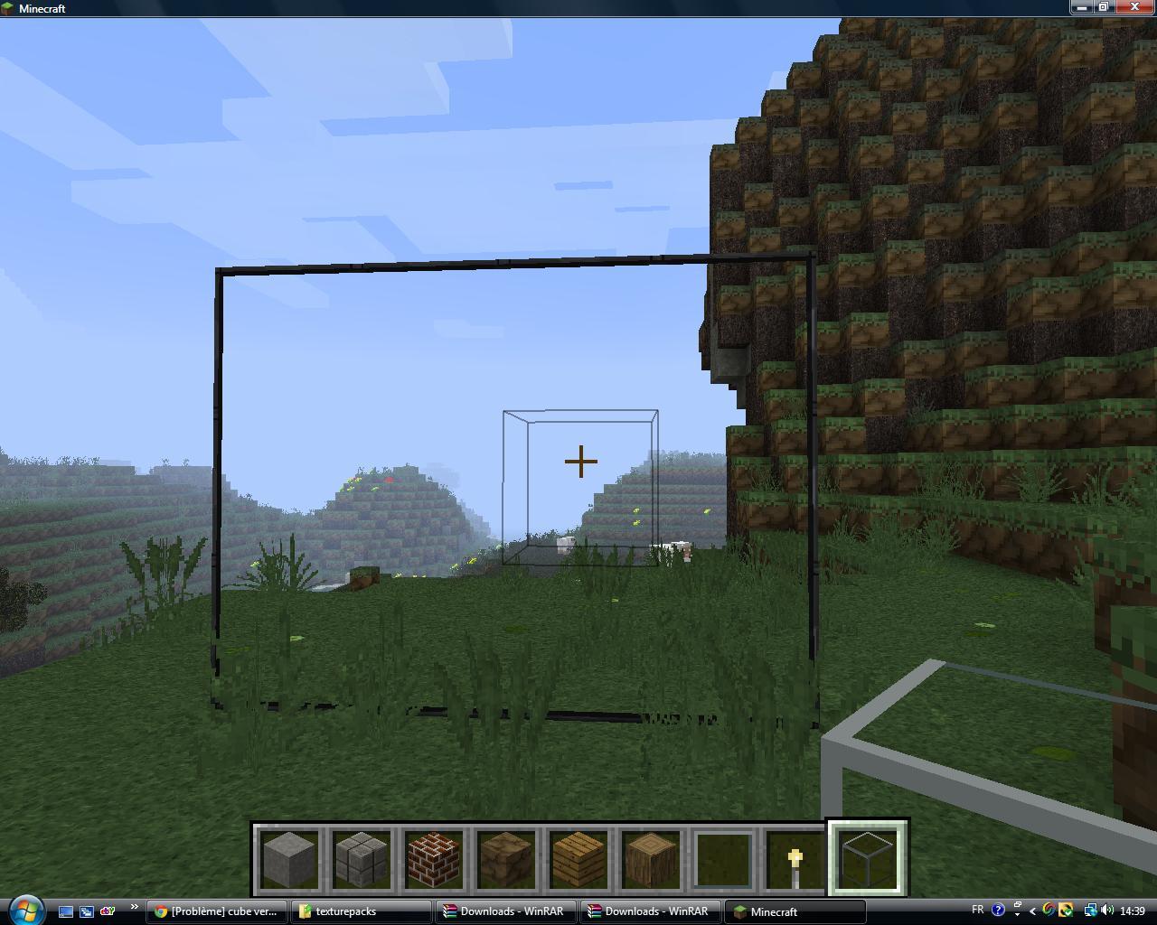 AIDE Problème texture bloc de verre... | Minecraft