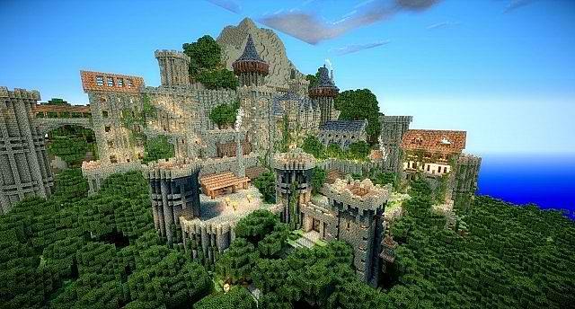 Serveur de construction fr minecraft - Chateau de minecraft ...