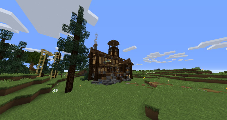Minecraft vanilla build médiéval.jpg