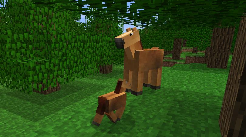 Mod ajout d 39 animaux 1 8 1 - Cheval minecraft ...