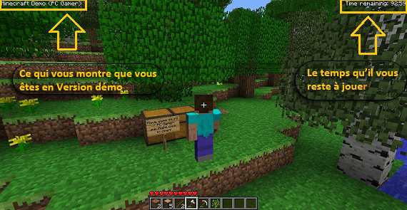 Version Démo De Minecraft Minecraftfr - Skin para minecraft pc gamer demo