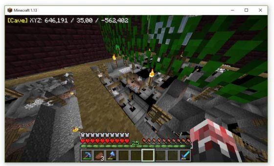xray minecraft mode cave