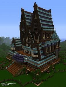 Minecraft, la déco et vous [1.7.3] manoir-minecraft-3-230x300