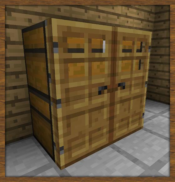 art et d coration fabriquer une armoire minecraft. Black Bedroom Furniture Sets. Home Design Ideas