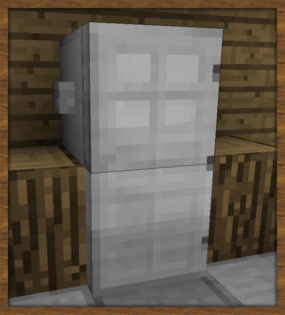 Refrigerator... Iron Door, Dispensers (2) And A Button. Classic. |  Meinkraft | Pinterest | Refrigerator, Minecraft Games And Minecraft Ideas