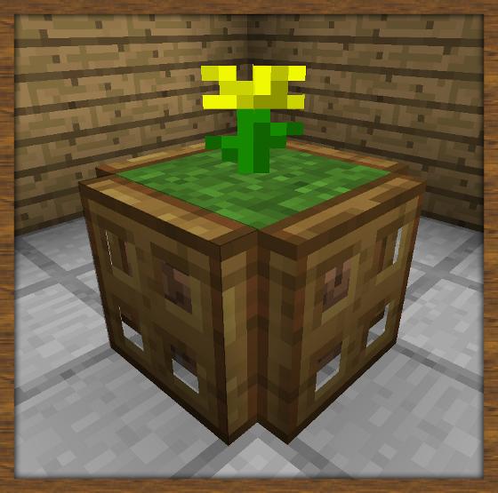 art et d coration fabriquer un bac fleurs minecraft constructor. Black Bedroom Furniture Sets. Home Design Ideas