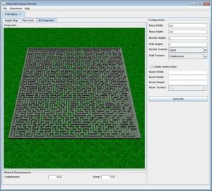 Minecraft Structure Planner maze-300x271