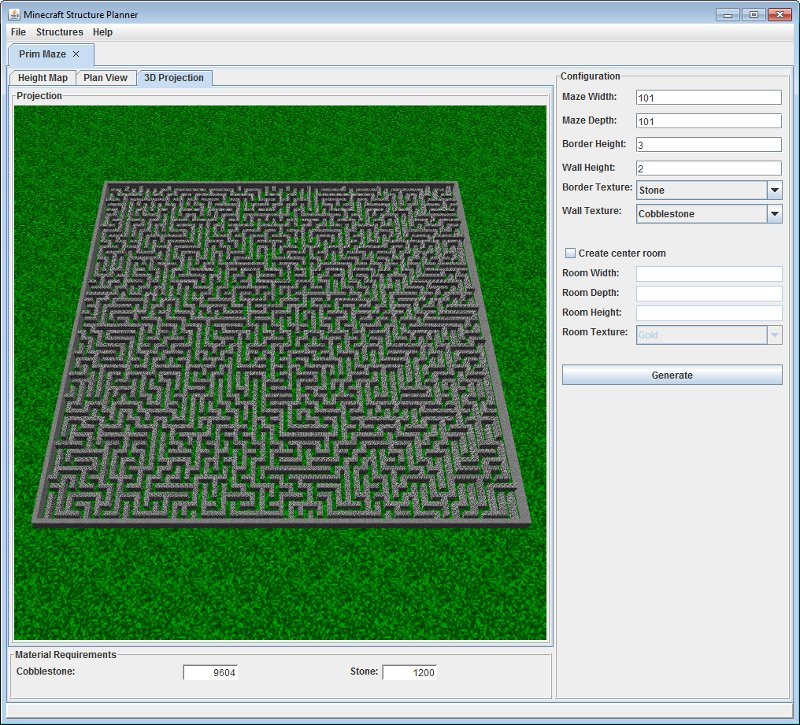 Minecraft Structure Planner