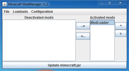 Outil mcmodmanager - Outil minecraft ...
