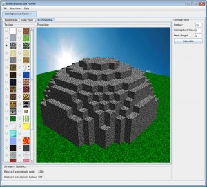 minecraft structure planner projection 3D