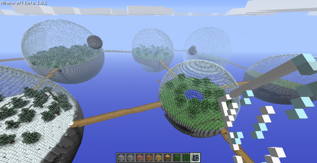 bio sphère mod minecraft vue haut