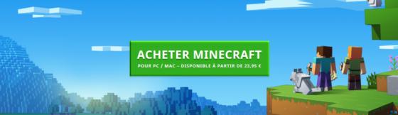 acheter minecraft
