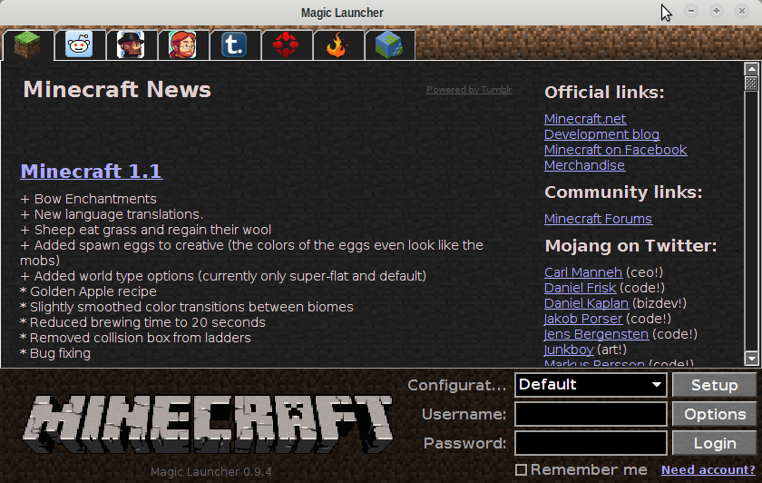 Outil magic launcher - Outil minecraft ...