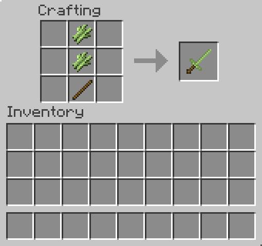 comment avoir une epee sur minecraft