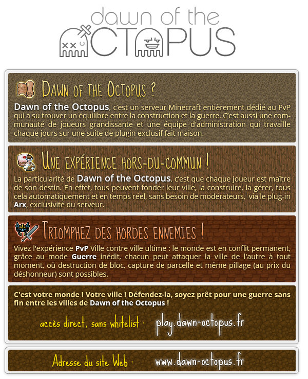 Dawn of the Octopus - Serveur Minecraft PvP