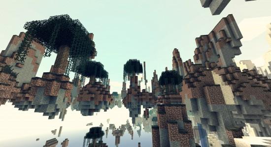 Des mini-îles volantes.