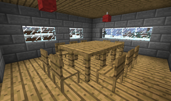 1 2 5 jammy furniture minecraft for Salle a manger minecraft