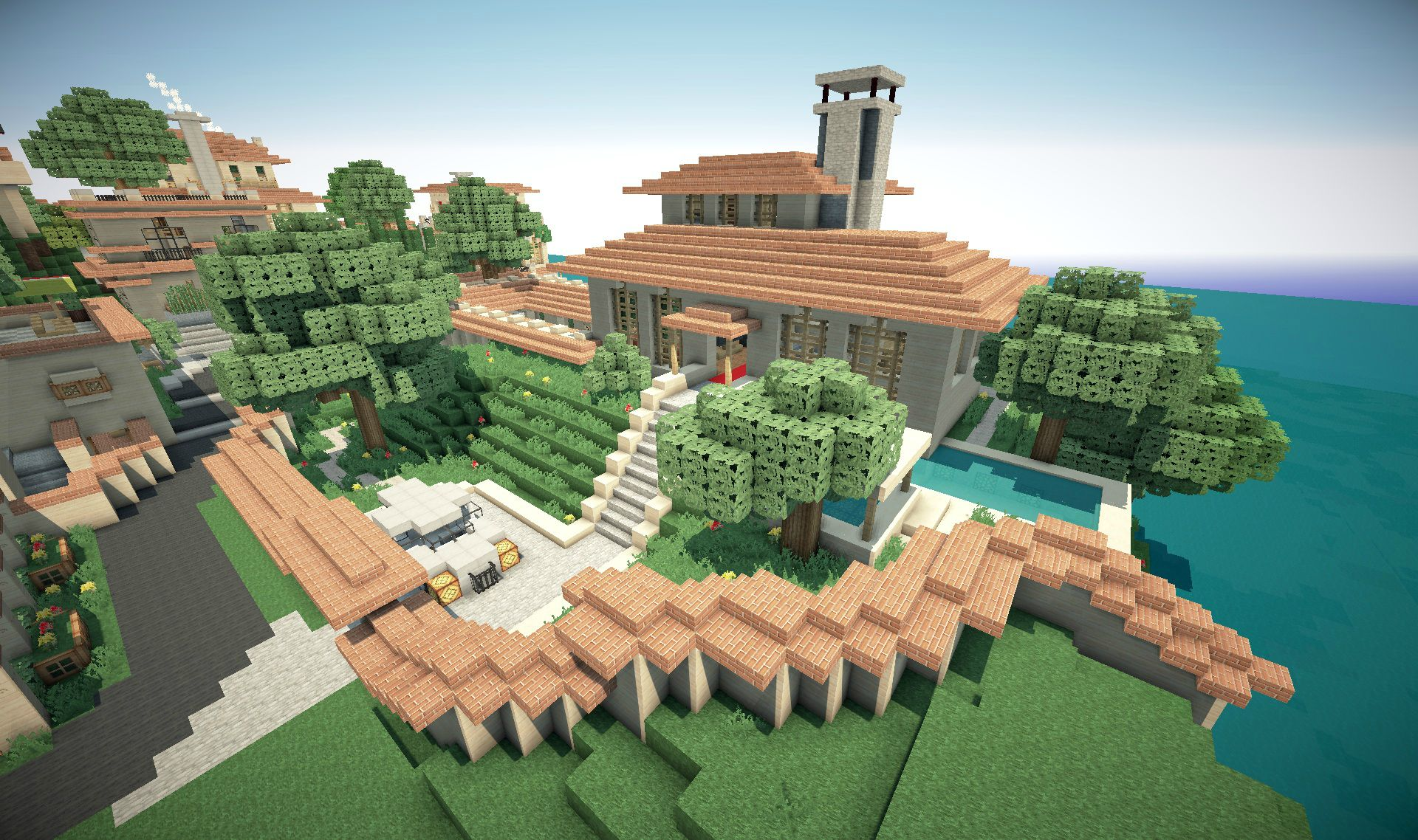 Maison moderne dansminecraft – lombards
