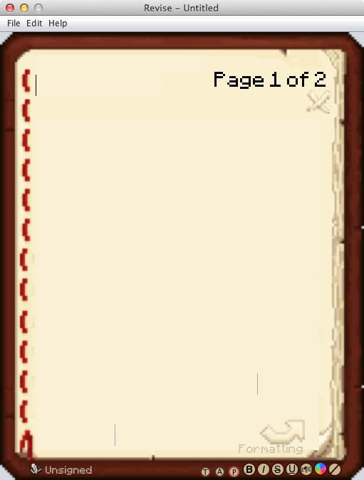 Interface d'édition de Revise