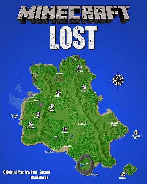 minecraftmap 82216 The LOST island map