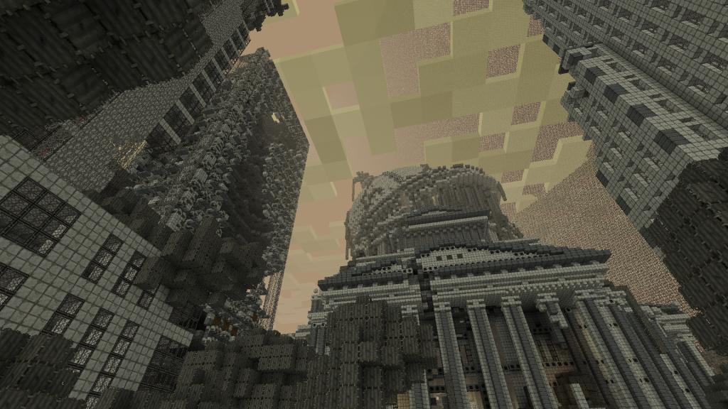 карта на выживание в зомби апокалипсис в майнкрафт 1.7.10 #2
