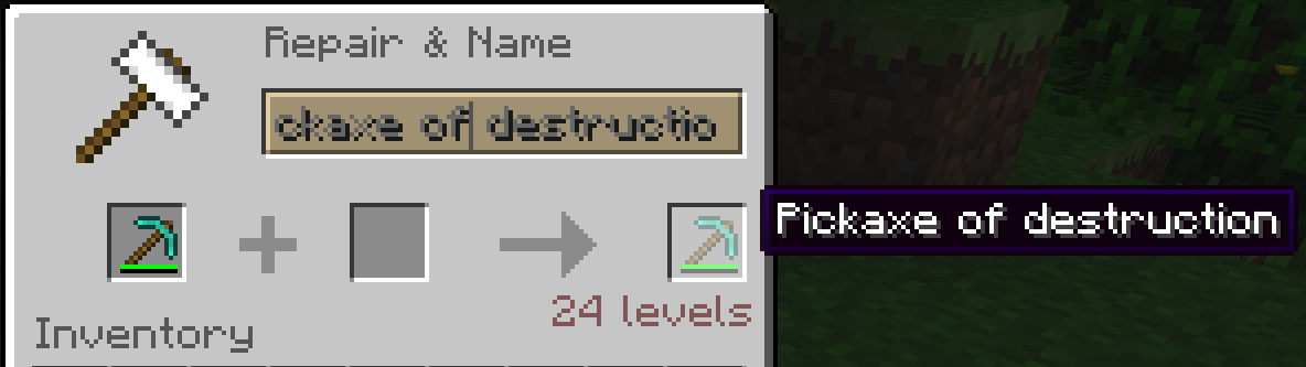 Minecraft 12w41a pick