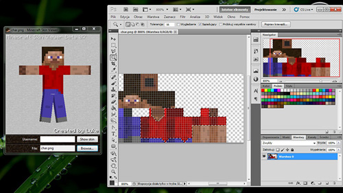 photoshop7001 Minecraft Skin Viewer