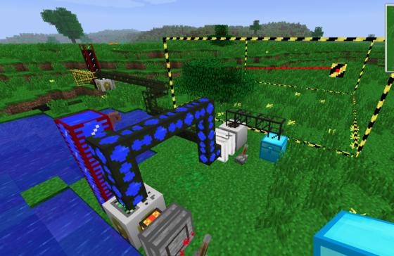 Un moteur à combustion dans Minecraft rajouté via un modpack