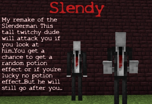 [1.4.7] Mod CreepyPastaCraft Slender