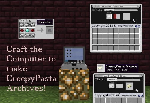 ha3bj [1.4.7] Mod CreepyPastaCraft