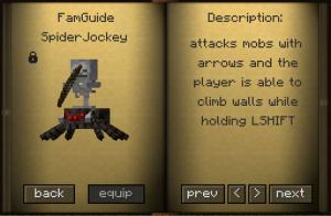 Spider Jockey 300x196 [1.5.1] FAMILIARS