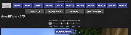 télécharger sphax pure bd craft version minecraft resolution