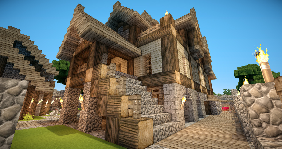 HD wallpapers idee interieur maison minecraft