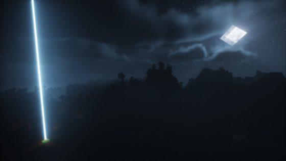 Chocapic's 13 Shaders : Nuit avec pleine lune
