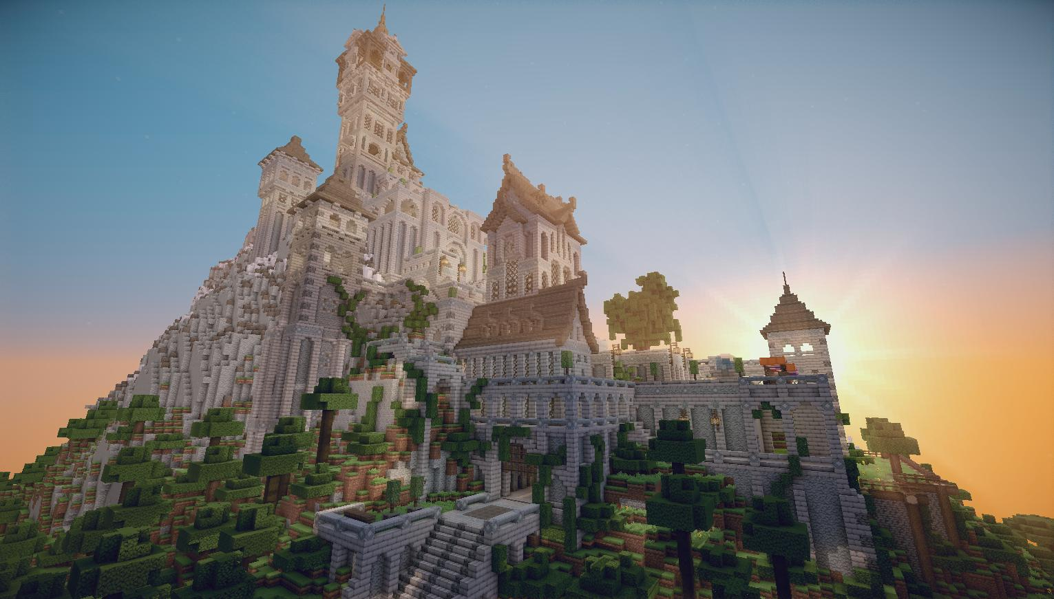 Minecraft Mountain Castle