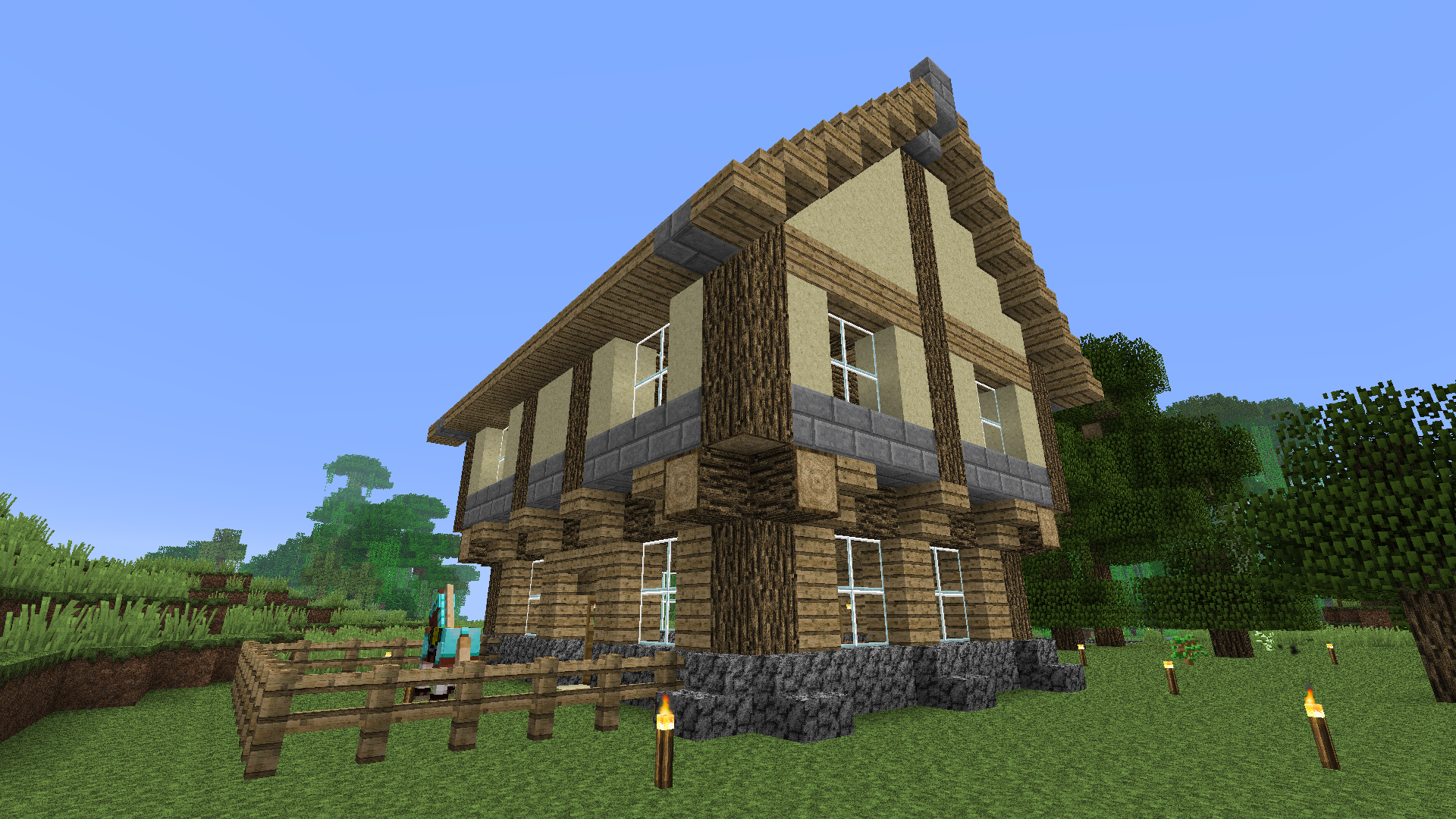 1 6 2 r3d craft - Minecraft exemple de maison ...
