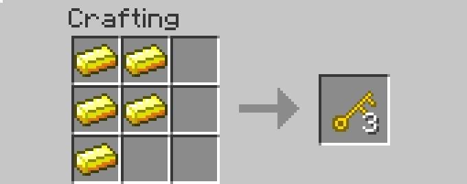 recipe key [1.6.2] More Storage