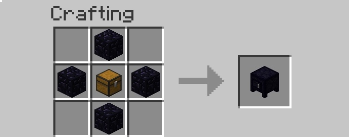 recipe obsidiansafe [1.6.2] More Storage